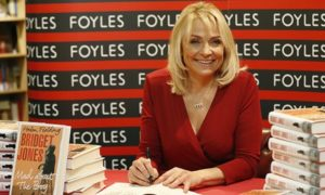 Helen Fielding at a book signing for Bridget Jones: Mad About the Boy at Foyles bookshop in London
