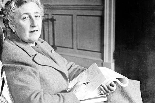 Dame Agatha Christie poses in March 1946 for a photographer in her home, Greenway House, in Devonshire, England. (AFP/Getty Images)