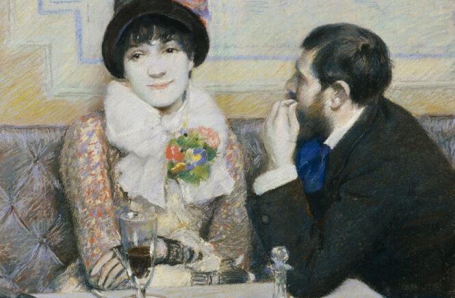 Federico-Zandomeneghi-Coppia-al-caffe-1885-circa-Pastello-su-carta-cm-445x54-Fondazione-FC-per